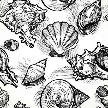 Seamless pattern from sketches of different shapes shell