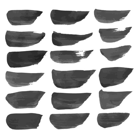 Strokes painted with black paint isolated on a white background 1 Vector