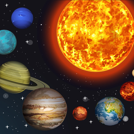 illustration Solar system Vector