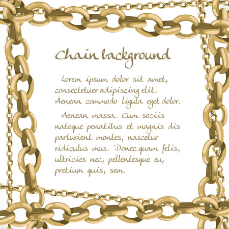 gold chain: Frame from large and small chain