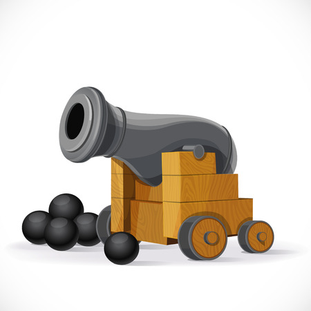 offensive: Cannon isolated on a white background