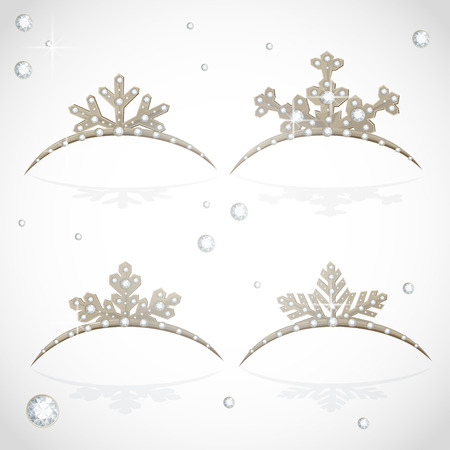 object complement: Gold Crown tiara snowflakes shaped for Christmas ball