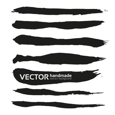 Zwart handgetekende realistische lange halen banners 1