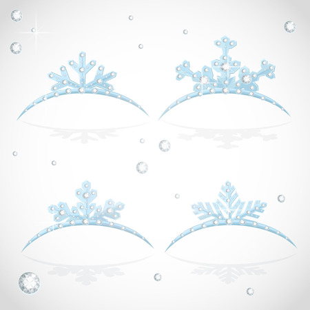 object complement: Blue Crown tiara snowflakes shaped for Christmas ball