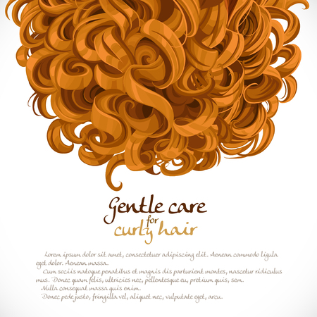 hair mask: Curled hair background