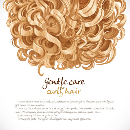 Blond curled hair background