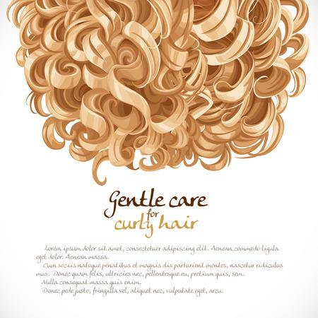 mujer pelo rizado: Rubio encrespado fondo cabello