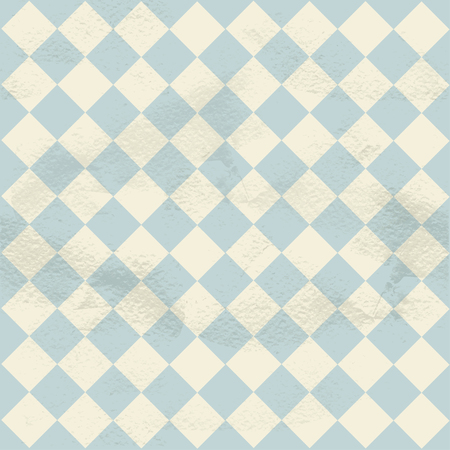 diagonally: Blue seamless grungy vintage pattern from the cells of diagonally