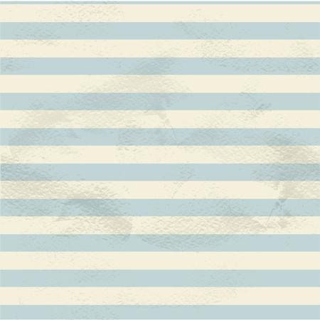 Blue seamless vintage pattern of white horizontal strips on grange paper