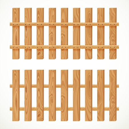 planking: Wooden fence from long planking isolated on white background Illustration