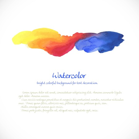 brush modern: Watercolor colorful background  for decoration Illustration