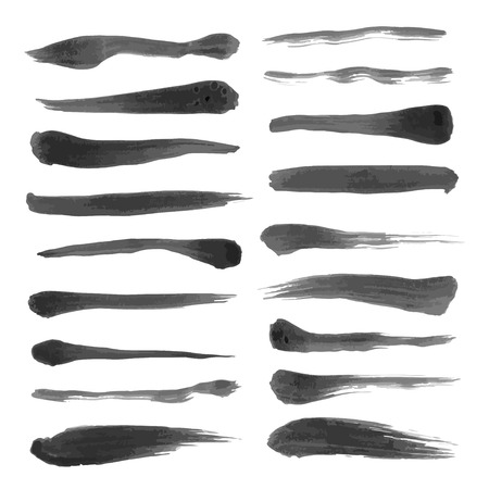 Black abstract ink strokes set on white paper