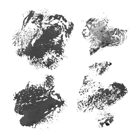 smears: Black vector prints and smears paint Illustration