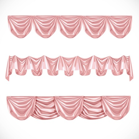 playhouse: Pink pelmet isolated on a white background