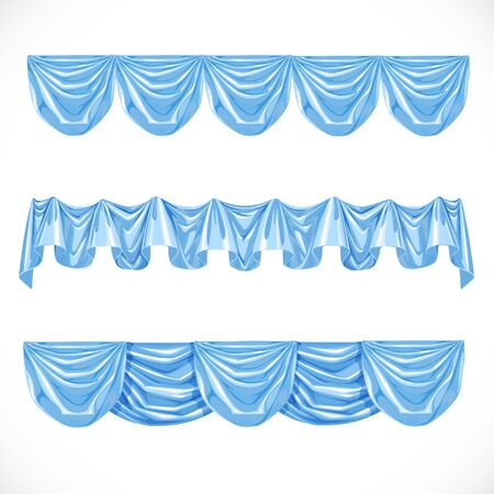 classical theater: Blue pelmet isolated on a white background Illustration