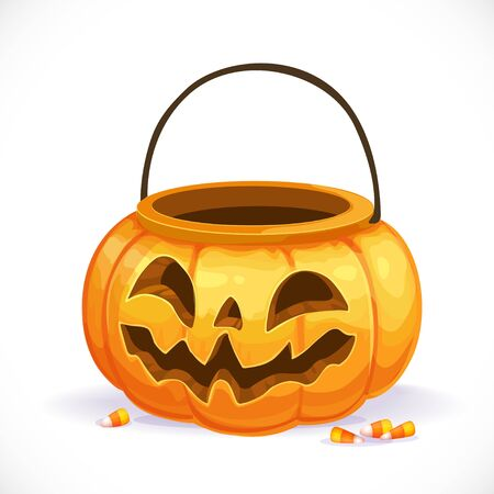 halloween pumpkin: Set of multicolored buttoned to buckle belts isolated on white background Illustration