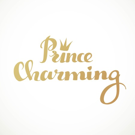 a charming: Prince charming calligraphic inscription on a white background