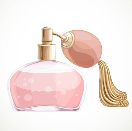 eau de toilette: Perfume isolated on a white background Illustration