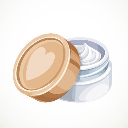 anti age: Cosmetics cream isolated on a white background