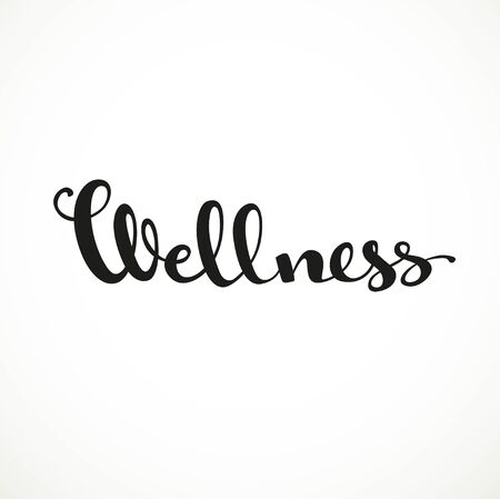 to make believe: Wellness calligraphic inscription on a white background Illustration