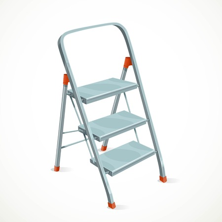 refit: Foldable stepladder isolated on white background