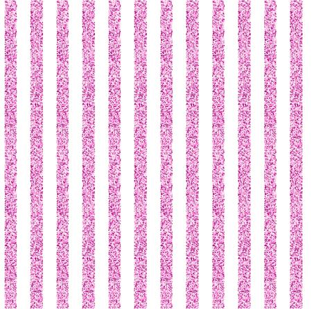 Seamless background with stripes of pink shining tinsel on white