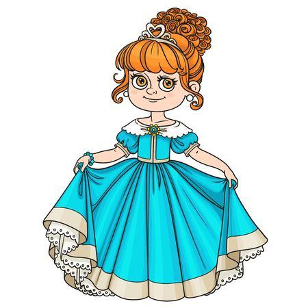 Belle révérences petite princesse isolé sur fond blanc