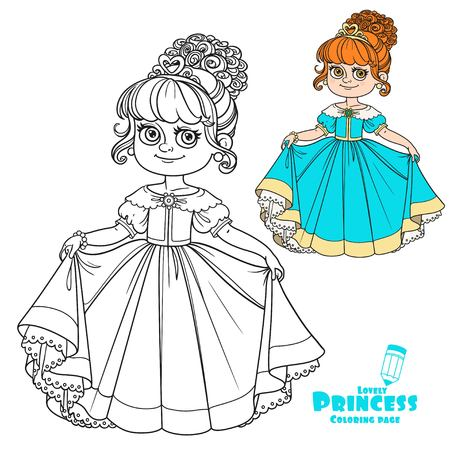 Linda Menina Princesa Sopra A Cor De Estrelas Brilhantes Magicas E
