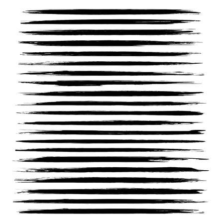 Abstracte zwarte dunne lange smears vector objecten geïsoleerd op een witte achtergrond
