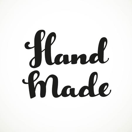 Hand made calligraphic inscription on a white background
