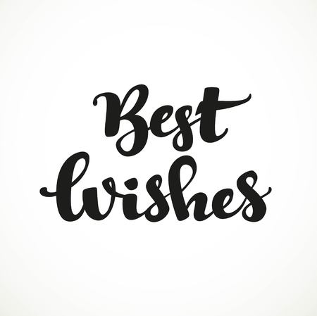 Best wishes calligraphic inscription on a white background