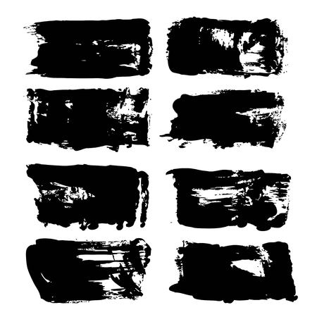 抽象的な大きな厚い黒の長いテクスチャブラシストローク。