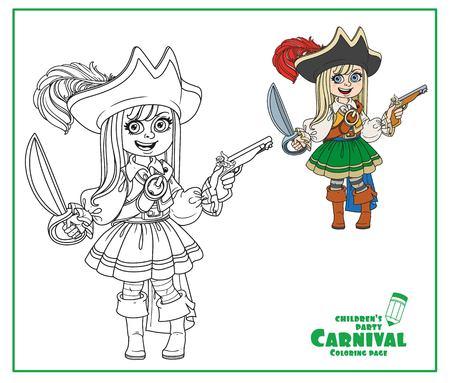 Chico Lindo En Traje De Pirata Para Halloween, Año Nuevo. Niño ...