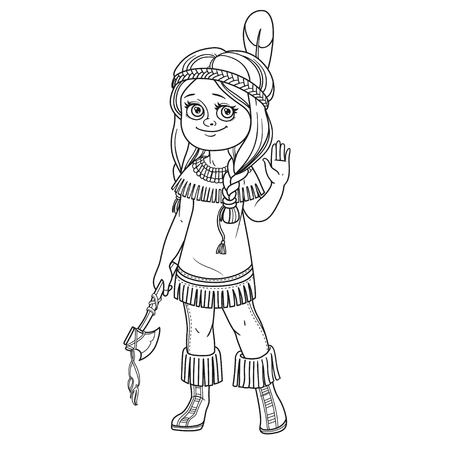 Cute girl in Indian costume Illustration