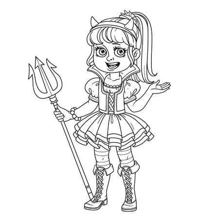 귀여운 소녀 색칠 페이지에 대한 설명 succubus 복장