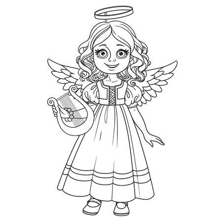 天使の衣装でかわいい女の子
