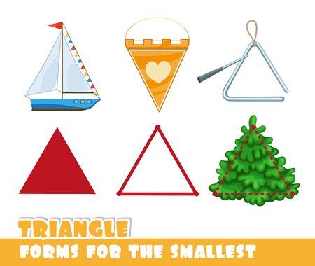三角形の図形を持つオブジェクト。  イラスト・ベクター素材