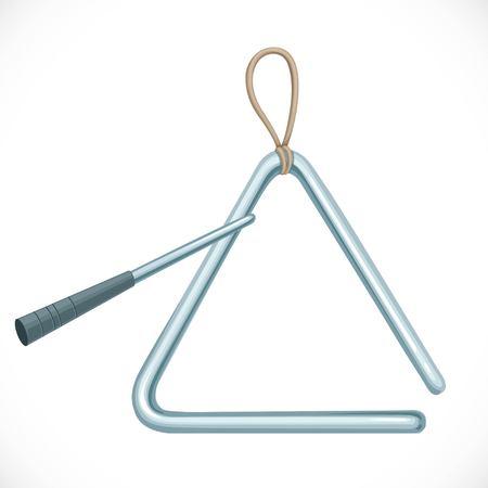 Triangular musical instrument. Ilustração