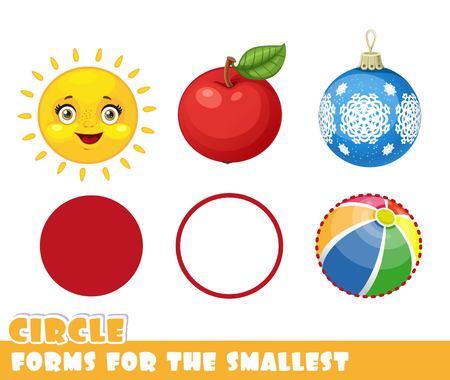 Cercle et objets ont forme de cercle Banque d'images - 87794271