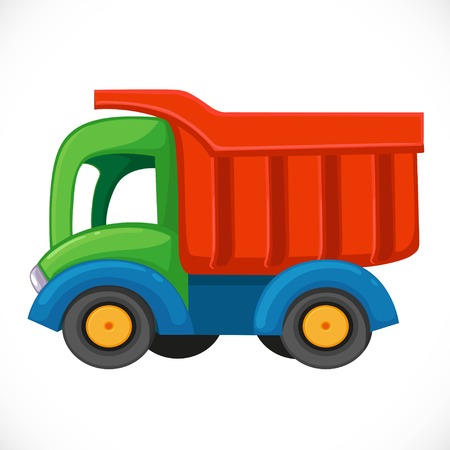 Kids toy color plastic dump truck.