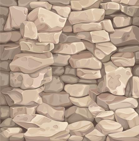 Brązowa kamienna ściana ilustracja