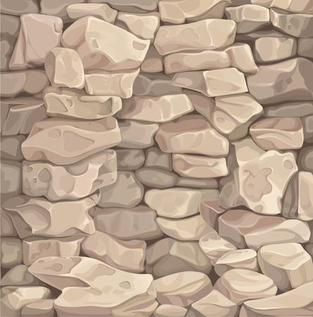 Brown stone wall illustration