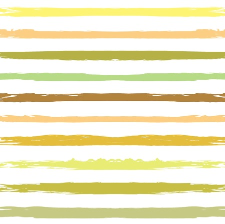 Green and yellow color seamless pattern from long textured smears on a white background Illustration