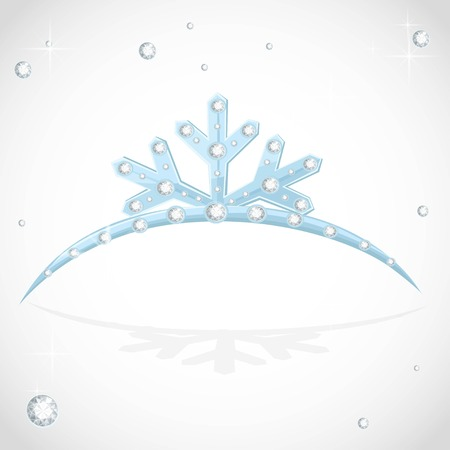 Blue Crown tiara snowflakes shaped for Christmas ball Stock Vector - 113386980