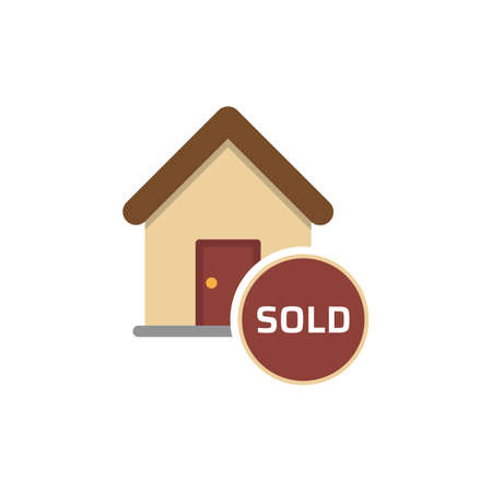 Home icon. House for sold vector icon