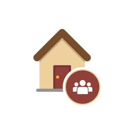 Home icon. Cohabitation concept. Illustration