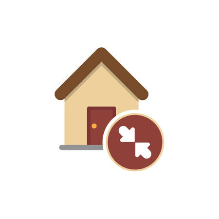 Home icon. Residential - Graph Decreases. 向量圖像