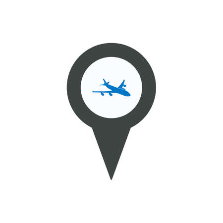 Aircraft airplan location marker pin place position icon