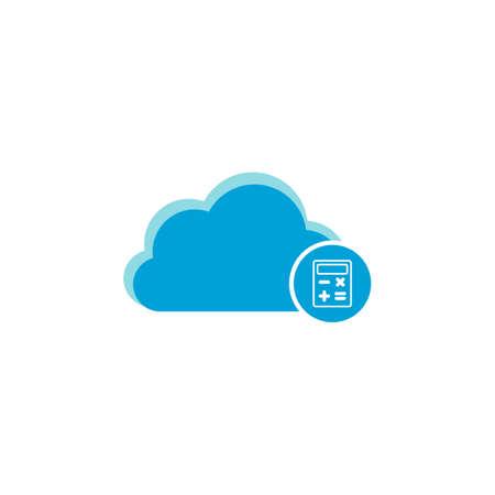 Cloud computing icon, calculator icon