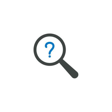 虫眼鏡アイコン、質問アイコンベクトル記号 写真素材 - 93643888